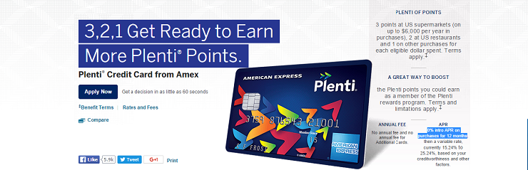 Plenti AmEx Rewards Card