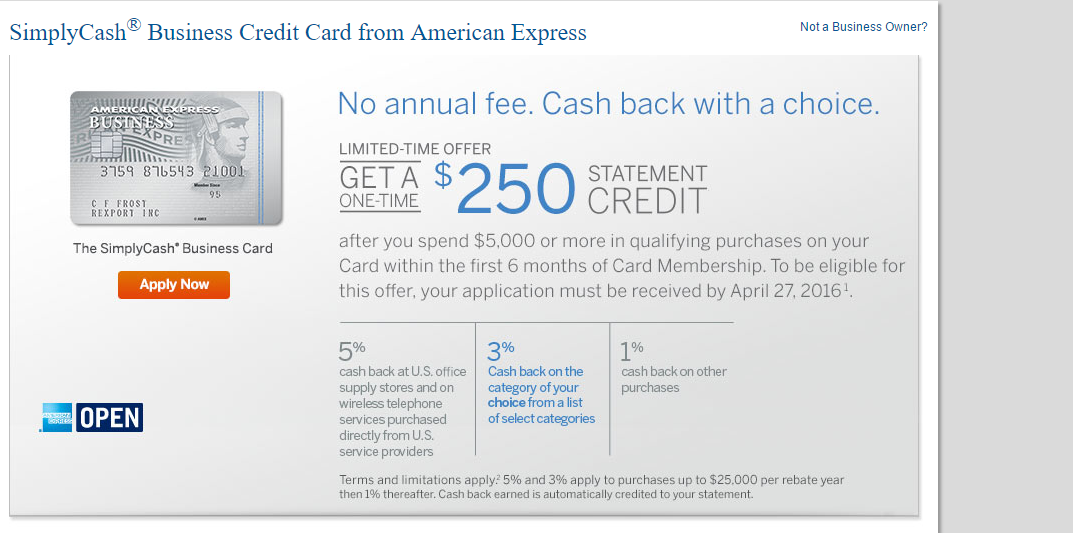 Simplycash business amex credit card 250 statement credit bonus review simplycashbanner reheart Choice Image