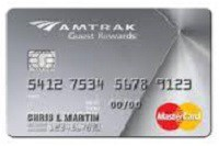 AmTrak Guest Rewards Platinum MasterCard Credit Card 12,000 Bonus Points