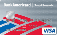 BankAmericard Travels Rewards Student Credit Card 20,000 Bonus Points