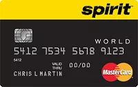 Spirit Airlines World MasterCard 25,000 Bonus Miles