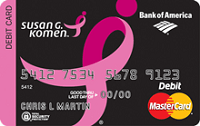 Susan G. Komen Credit Card $100 Cash Rewards Bonus