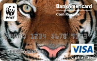 WOrld Wildlife Fund Credit Card REwards Promotion