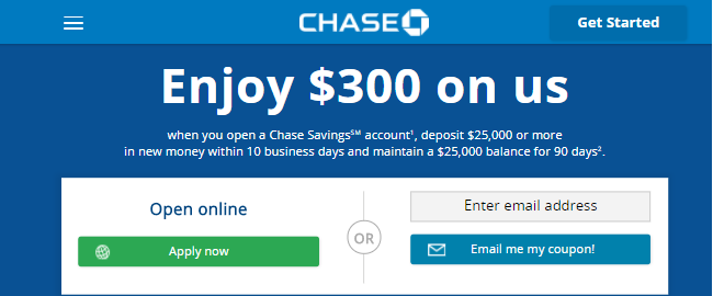 what types of savings accounts does chase offer