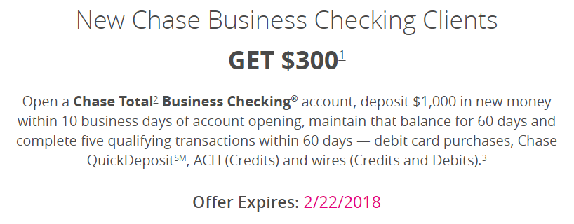 Chase coupon no direct deposit required