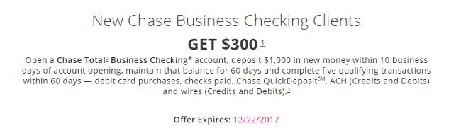Chase Business $300 Bonus