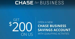 Chase Business Savings $200 Bonus